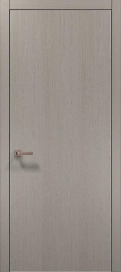 Plato-1 Пекан светло-серый, торец в цвет полотна