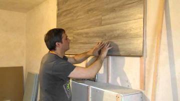 Как закрепить ламинат на стену